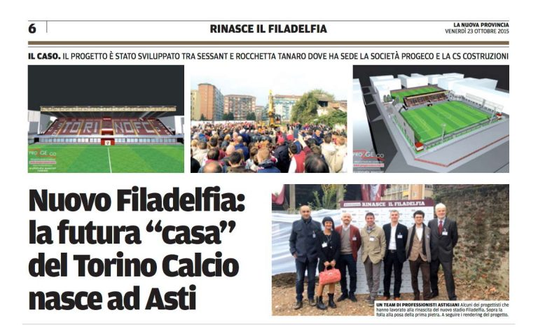 Progeco si aggiudica la progettazione per la ricostruzione dello Stadio Filadelfia di Torino
